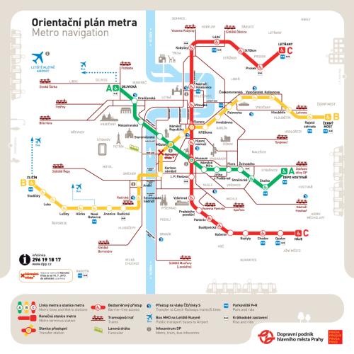 Схема пражского метро